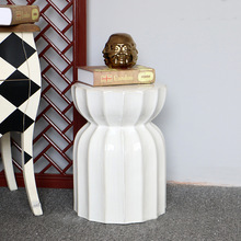 Chinese White Color Ceramic Porcelain Garden Stool