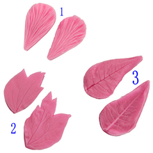 Petal Leaf Silicone Embossed Mold Set Cream Cake Chocolate Candy Mold Cake Decorated Candy 3d Food Grade Silicone Clay