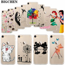 "Buy BIGCHEN iPhone X 7 8 Case Cute Cartoon Cat Soft Silicone Cases Cover iPhone 7 Plus 8 plus 5.5"" Phone Back Fundas for $1.11 in AliExpress store"