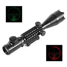 C4 - 16 X 50 EG Tactical Hunting Riflescope Water Resistant Rifle Scope Laser Shockproof Aluminum Body for Rifle Hunting Kit