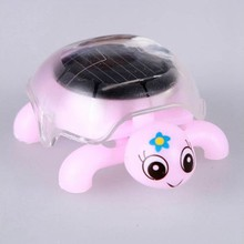 Mini Moved Solar Energy Gadget Gift Cute Turtle Educational Toy For Kids Gift(China)
