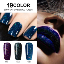 Sarness 8ml UV Gel Varnish Red Diamond Hybrid Colorful Bling Neon Nail Gel Soak Off UV Color Gel Nail Polish Color Nail Art