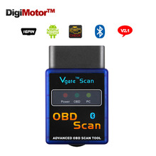 ELM 327 V 2.1 ELM327 V2.1 Bluetooth Mini China Scan Tool OBDII OBD2 Scanner Automotivo Escaner Car Code Reader Diagnostic-Tool