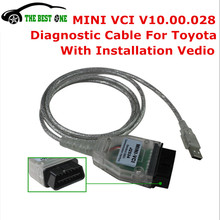 Newest V12.00.127 MINI VCI Interface FOR TOYOTA TIS Techstream MINIVCI FT232RL Chip Mini-VCI J2534 OBD2 Diagnostic Cable Tool