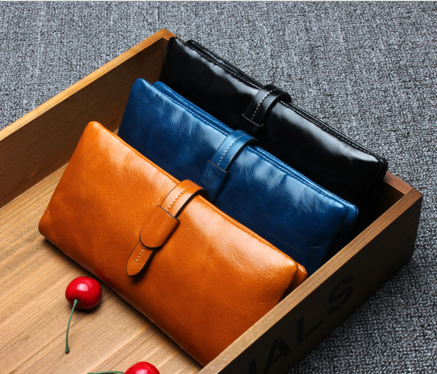 SALE!!  FREE SHIPPING 100% First Layer of Genuine Leather Wallet Womens Long Section Retro Purse Fashion Clutch Bag<br><br>Aliexpress