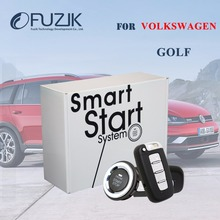 Plug and Play PKE Keyless Go Smart Key Push Start Button and Car Alarm Remote Start Keyless Entry for VW Volkswagen Golf7 Golf6