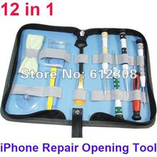 12 in 1 Repair Opening Tool Kit With 5 Point Star Pentalobe Torx Philips Screwdriver for iPhone 4 4G