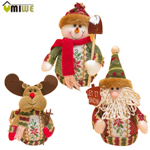Christmas Gifts Standing Santa Claus Snowman Reindeer Ornaments Home Decorations Cute Doll Christmas Toys For Kids Children