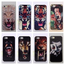 For apple iPhone 5c Back Cover Tigers Leopards Wolf Cartoon Princess White Snow Pattern Hard PC Mobile Phone Cases For iPhone 5C(China)