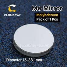 Cloudray High Quality Mo Mirror Dia. 15 19.05 20 25 30 38.1mm THK 3mm 1Pcs Custom-made for CO2 Laser Engraving Cutting Machine