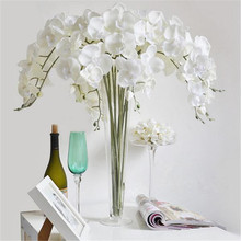 Butterfly Orchid Artificial Flowers Wedding Decorative Supplies 4 Colors Vivid Fake Flowers Butterfly Orchid For Home Party Deco(China)
