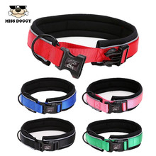 Reflective Pet Collars Adjustable Polyester Nylon Collar for Dogs Outdoor Trainning Soft Air Mesh Padded Brand Pet Product S-XL