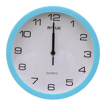 Charminer Retro Vintage Round Silent Sweep Movement Quartz Wall Clock Home Bedroom Decor 3 Colors Blue Silver Green(China)