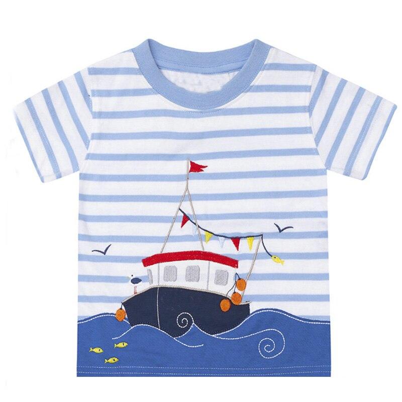 Boys T Shirt 100% Cotton Boys Short Sleeve Shirts for Children ...