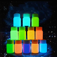 2017 25g 12 color DIY Graffiti Paint Luminous Acrylic Glow in the Dark Pigment Party Walls(China)