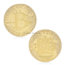 2017 Peace Freedom 2014 Bitcoin Commemorative Coin Silver Plated Collectible BTC Gift Jun21_25