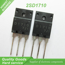 10PCS free shipping D1710 2SD1710 TO-3PF transistor color TV line pipe repair 100% new original fast delivery