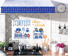 [Fundecor] kitchen oil sticker environmental creative kitchenware decor pattern pvc pollution prevention wall decal