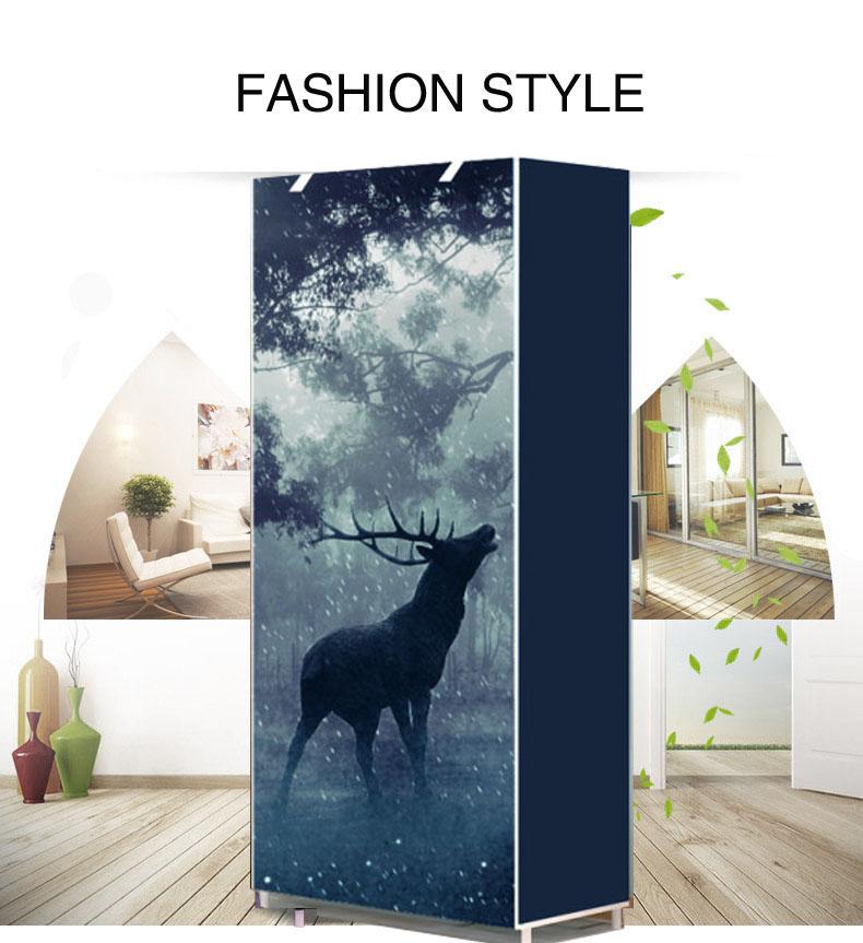 Modern minimalist shoe 8 layer non-woven dust creative combination cabinet storage rack organizer shoe storage home Furnitur 1