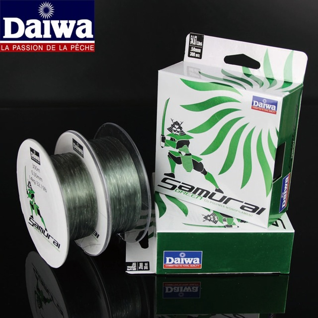 Daiwa Brand 300m Strong Quality Nylon Multifilament Fishing Line Samurai Green Premium Monofilament Fishing Lines(China (Mainland))