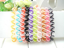 Free Shipping !! 4.5CM 100Pcs Colourful Hair Ring Band Accessory Hair Jewelry Findings & Components