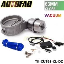 AUTOFAB - 2.5'' 63mm Closed Vacuum Exhaust Cutout Valve with Wireless Remote Controller Set AF-CUT63-CL-DZ