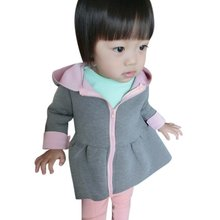 Kids Coat Girls Jacket Animal Rabbit Design Cotton Zipper Spring Autumn Baby Girl Coat Children Jackets
