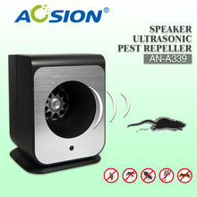 Aosion New Arrival Single Speaker Ultrasonic Mouse Reject Home Bug Pest Repeller with EU Plug