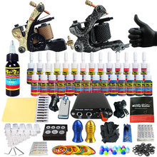 Solong Tattoo Complete Tattoo Kit for Beginner Starter 2 Pro Machine Guns 28 Inks Power Supply Needle Grips Tips TK204-6