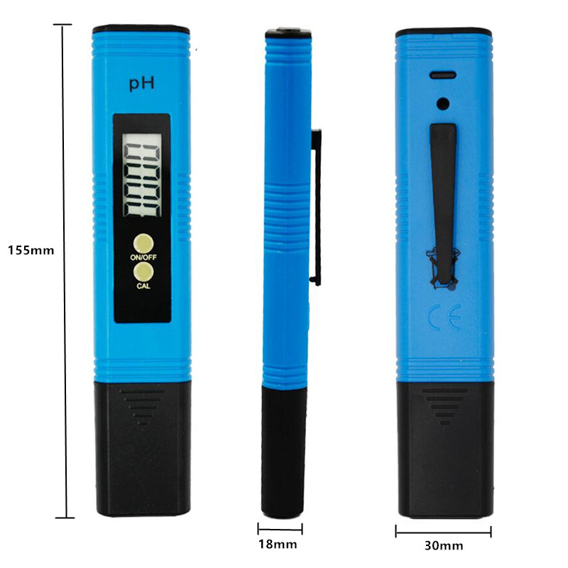 100pcs by dhl fedex Portable Pen Pocket Digital 0.01 Water PH Meter Tester Quality for Aquarium Laboratory 0.0-14.0pH 35% off 3
