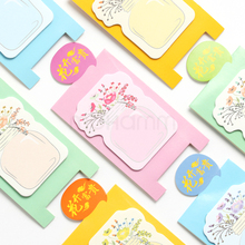 Korean Cute Kawaii Vase Flower Desk Standing Stikcy Notes Memo Pads Post It Planner Sticker School Office Supplies Stationery