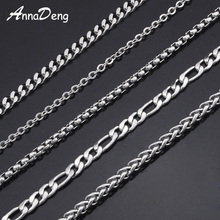 CHIMDOU Stainless Steel Chain Necklace For Men Women 2016 Snake Chain Wholesale DIY long chain Jewelry Accessories