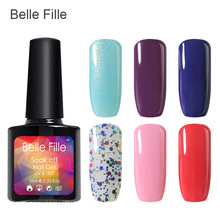 Fashion UV Nail Gel Polish 3D Shining vernis gel Bling Nagel gel Giltter Coat 10ml DIY Nail Art Banquet Party fingernail Polish(China)