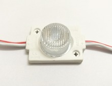 10pcs DC12V high power Waterproof LED Module with injection len (1LED, white, 1.5W) for Double-sided Lightbox high brightness B