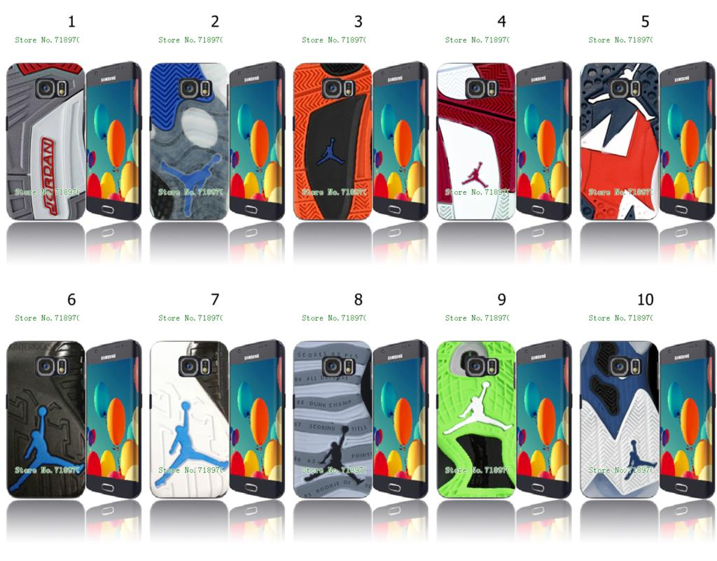 Online-custom fashion Jordan sole shoes hard plastic case cover for samsung Galaxy S6 edge Free Shipping