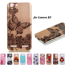 Lenovo K5 A6020 5.0 Case Luxury Bling Soft Silicone TPU Case Cover 3D Cartoon Glitter Cover Fundas For Lenovo K5 Plus Cell Phone(China)