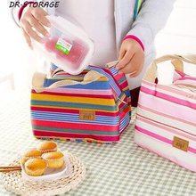 1Pcs/set Waterproof Cooler Bags Thermal Warmer Insulation Picnic Lunch Package Fresh Food Ice Stripes Infant Thermos Bottle Bag