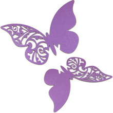 Laser Cut Butterfly Table Mark Wine Glass Name Place Cards Wedding Favor Hot Sale