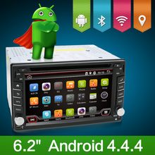 4.4 Android Car DVD Stereo camera 1.2GHZ dual-Core Capacitive Double 2 Din Car PC CD GPS BT WiFi 3G CAMERA Radio HD Parking