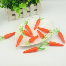 Cheap 30pcs 7cm  carrot Mini Artificial Fake Foam Fruits and Vegetables Berries Flowers For Wedding Christmas Tree Decoration