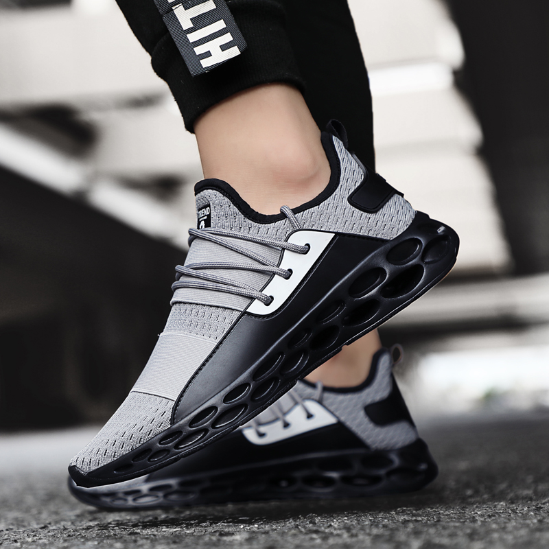 Stylish Four Seasons Running Shoes For Men Air Breathable Lightweight Sports Shoes Black Red Male Gym Sneakers Betis Zapatillas(China)