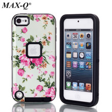 New Brand pattern Case For ipod Touch 5 5G 5th Generation Ge Luxury Brushed PC+TPU Hard Cases Back Cover For iPod touch 5