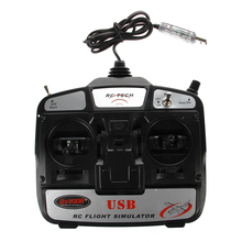 ABWE 6CH USB 3D RC Helicopter Aircraft Flight Simulator(China)