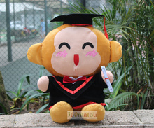 about 40cm bachelor gown monkey plush toy Doctorial hat monkey doll creative souvenir gift graduation gift ,w6414(China)