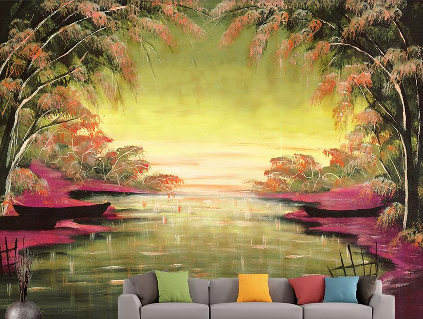 custom 3d photo wallpapers Landscape HD painting 3d wallpaper mural kitchen wallpaper 3d wall murals wallpaper<br><br>Aliexpress