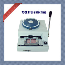 Manual 75 character letterpress id pvc card press machine convex and concave integrate