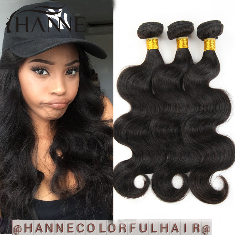 Hanne Hair Products Indian Virgin Hair Body Wave 3Pcs/Lot 6A Unprocessed Human Hair Indian Body Wave Hair Weave Bundles<br><br>Aliexpress