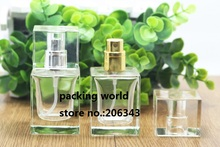 30ML square shape transparent clear  glass bottle  perfume atomizer bottle used for perfume packaging or perfume sprayer