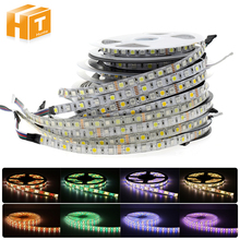 LED Strip 5050 RGBW DC12V / DC24V Flexible LED Neon Tape Light RGB+White / Warm White 60 /96 LEDs/m 5M/Lot(China)