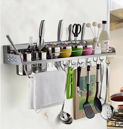 SUS304 stainless steel brushed multifunctional  high-capacity 60cm kitchen shelf  Kitchen Shelves Kitchen rack<br><br>Aliexpress